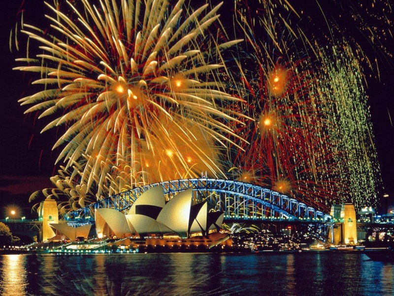 Sydney New Years Eve Fireworks Wallpaper