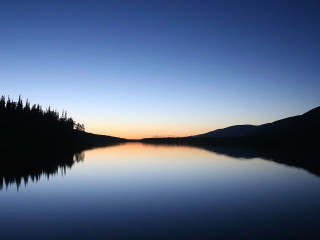 Tranquil River Sunset Wallpaper