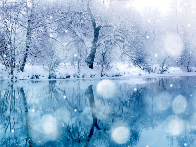 Snowy lake wallpaper free hd winter images snowy lake wallpaper voltagebd Image collections