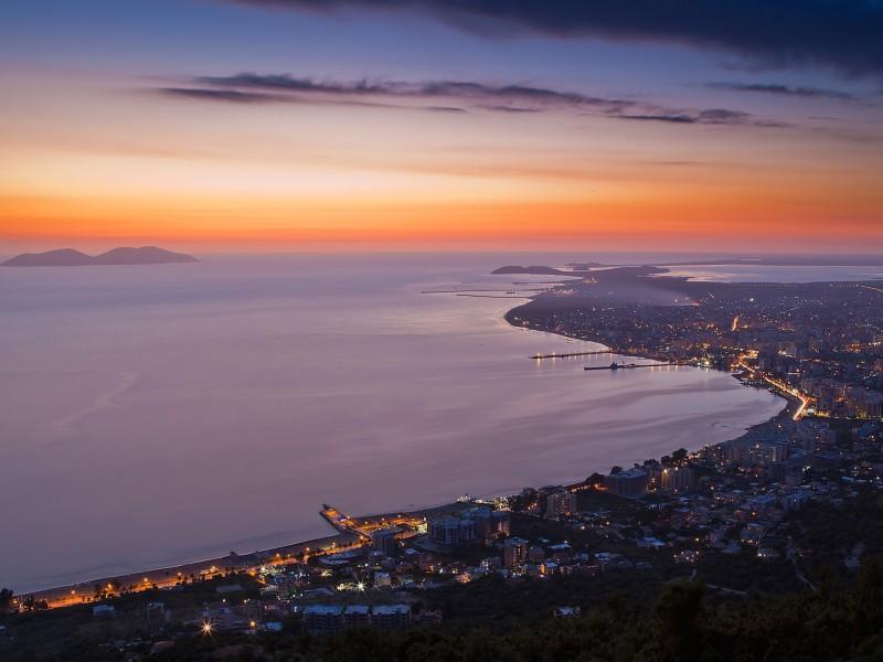 Albania Sunset Wallpaper