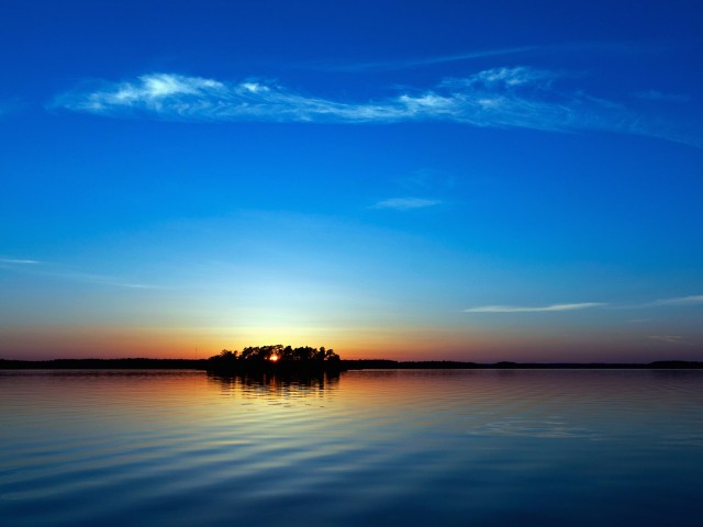 Sky Blue Sundown Wallpaper