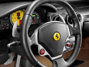 Ferrari F430 Stering Wheel Wallpaper