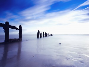 Serene English Channel Wallpaper