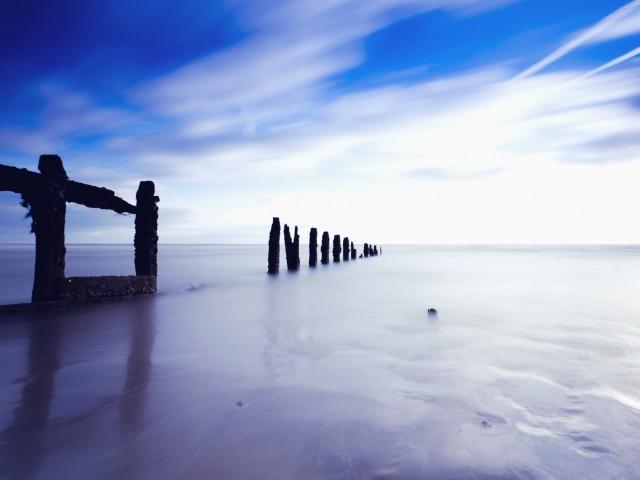Serene English Channel Wallpaper