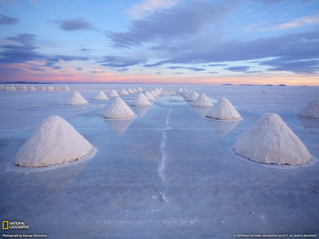 Salt Cones-Bolivia Wallpaper