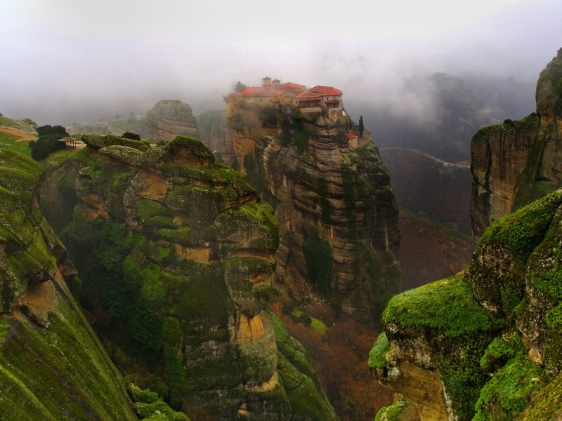 Meteora-Greece Monastery Wallpaper  Free HD Background