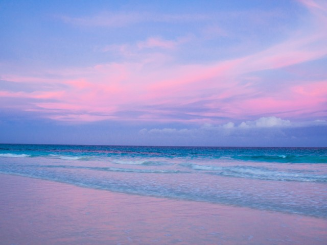 Pink Sand Beach-Harbour Isle-Bahamas Wallpaper