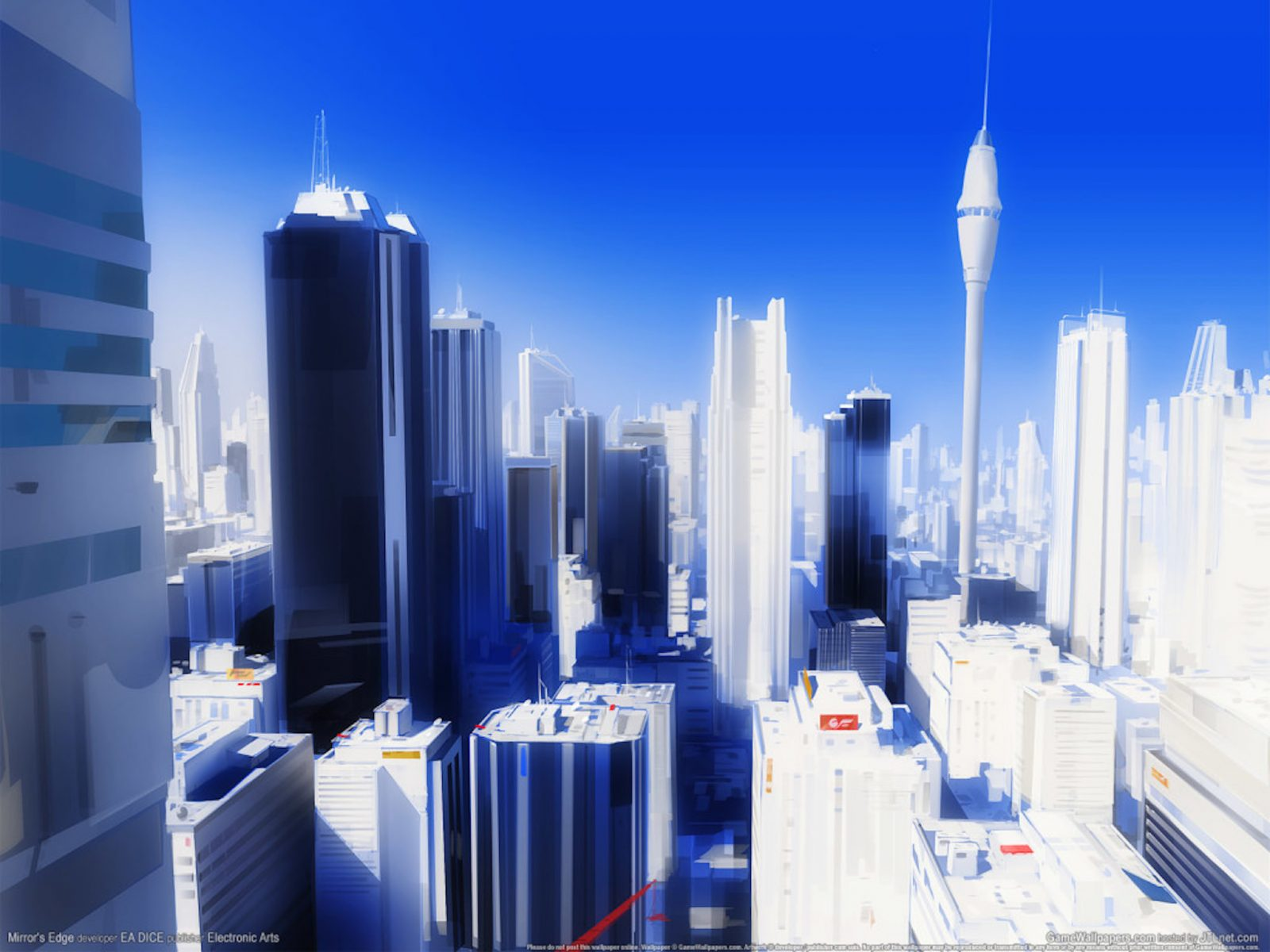 Mirror's Edge Glass City Wallpaper   Free Gaming Images