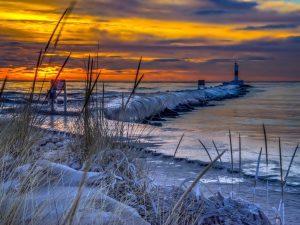 Morning Ocean Frost Wallpaper