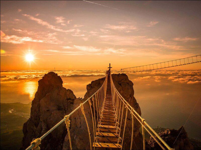 Ai-Petri Mountain Bridge Wallpaper